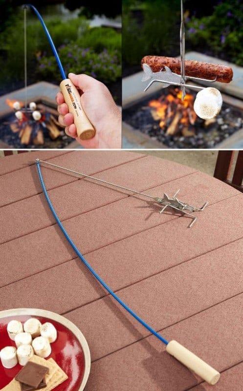 Campfire Marshmallow & Hot Dog Roasting Fishing Poles. LivingLocurto.com