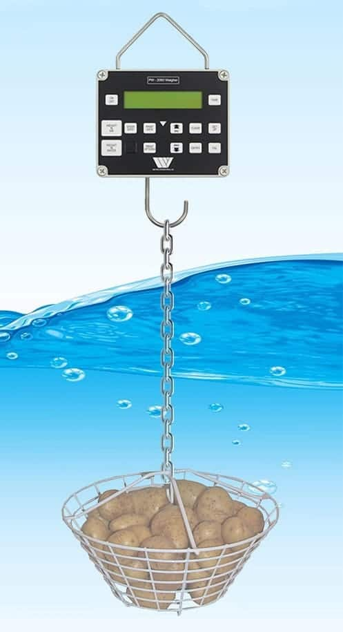 weltech dry matter measurement takes dry matter readings in water