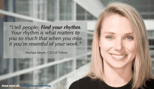 how to be a better leader and learn rhythm like marissa meyer suggests