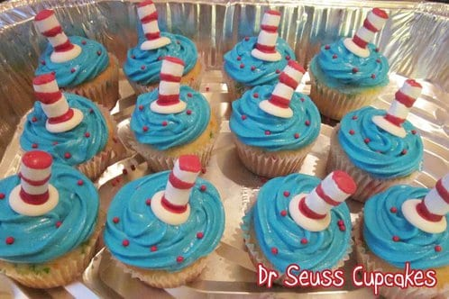 Dr. Seuss Cupcakes by Diddles and Dumplings #LivingCreative