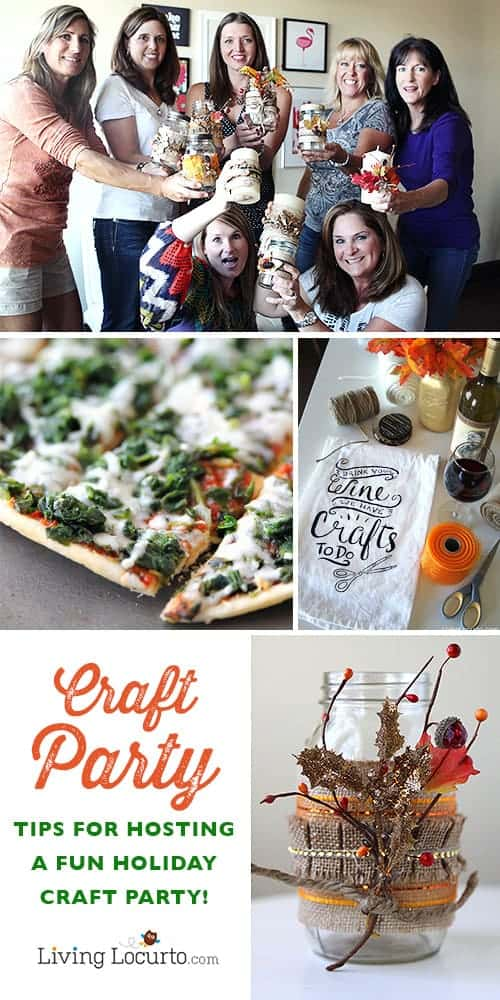How to Host a Successful Holiday Craft Party! Invite friends over for fun crafts, food and drinks. Make DIY Candle gifts to give during the Holidays. LivingLocurto.com