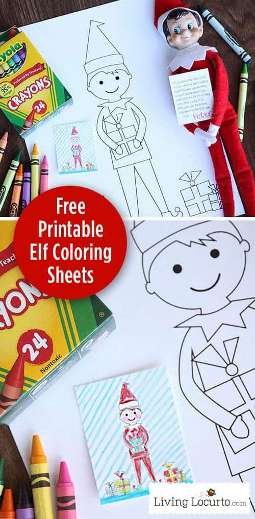 Elf Free Printable Coloring Sheets Cute Elf Ideas Living Locurto