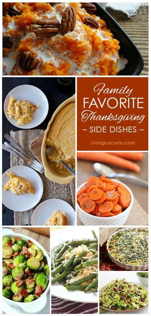 Family Favorite Thanksgiving Side Dish Recipes. LivingLocurto.com