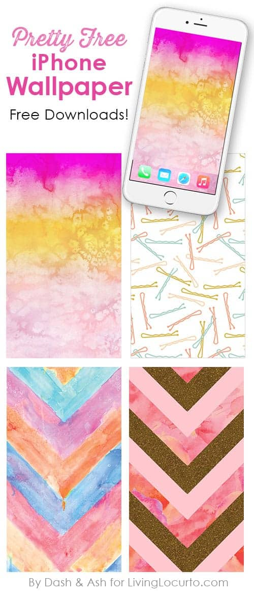 Pretty free iPhone Wallpaper to brighten your phone. Free downloads to spruce up the background of your phone. Pastel modern art designs.