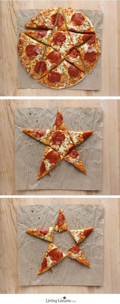 Star Cut Pizza and 5 Creative Ways to Serve Pizza at a Party! LivingLocurto.com