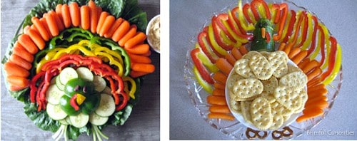 turkey vegetable trays | thanksgiving