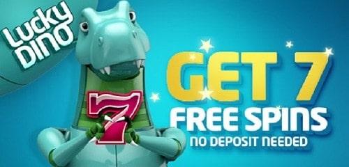 LuckyDino 7 free spins no deposit bonus