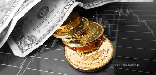 Gold, Goldpreis. US-Dollar (Foto: Goldreporter)