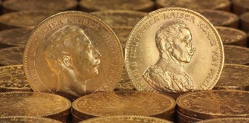 Reichs-Goldmünzen (Foto: ESG - Edelmetall-Service GmbH & Co.)
