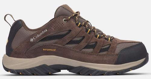 Columbia's crestwood is a waterproof hiking shoe for men.