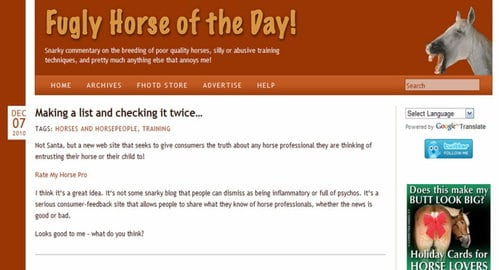 Cathy Atkinson, former fugly horse thinks Rate My Horse PRO a great idea.