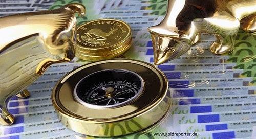 Gold, Goldpreis, Kompass (Foto: Goldreporter)