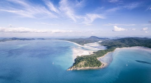 aerial image of Tongue Bay and Hill Inlet, on Whitsunday Island