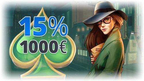 Ego Casino 15% cashback