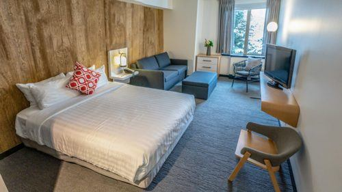 A refurbished room at aava whistler