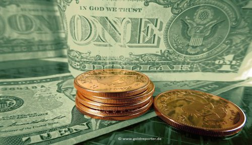 Gold, Goldpreis, Goldmünzen, US-Dollar (Foto: Goldreporter)