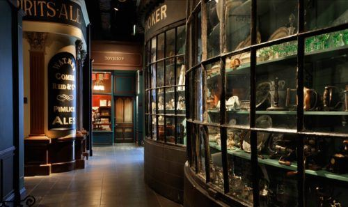 A victorian shopping street at the museum of london