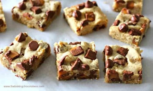 Snazzy Butterfinger Caramel Cookie Bars