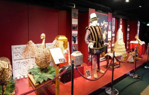 Costumes and props from shakespeare plays at the globe
