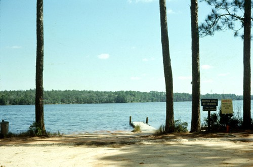 Boat launch at Florida's Rocky Bayou State Park