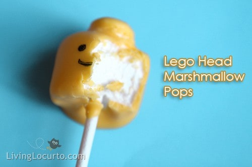 How to make Easy Lego Marshmallow Pops - Lego Birthday Party Idea Living Locurto