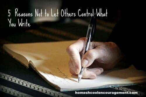 Do you look to others for tips and inspiration when you write? While it is helpful, there are reasons not to let others control what you write. Take a look at 5 reasons why.