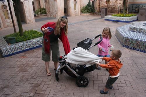 uppababy vista, uppababy, uppa baby, stroller review, stroller at disney, epcot