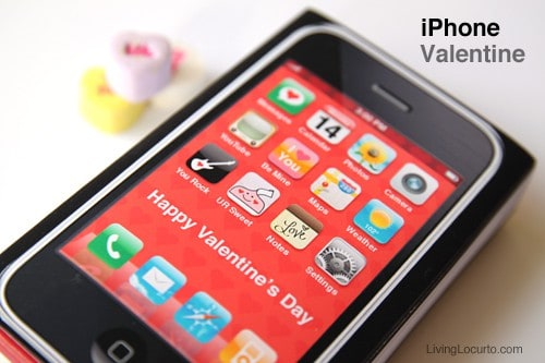 iPhone Class Valentine - Free Printable by Amy Locurto