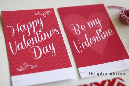 Valentine's Day Free Printables | Living Locurto | Project Life | Valentines Day Tags
