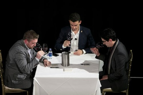 Bling tasting like a Master Sommelier. Photography by Jeff Schear Visuals