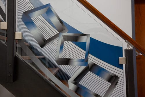 Digitally Printed Glass Staircase