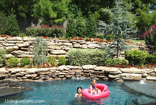 House & Garden Tour. Love this pool! Get great decorating ideas from this gorgeous home. LivingLocurto.com