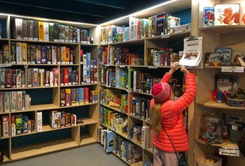 The game library at draughts gaming cafe in london