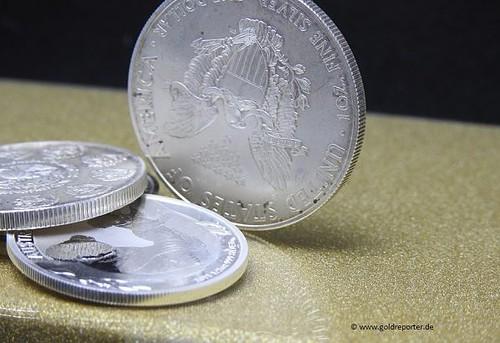 Silber, Silbermünzen, Mehrwertsteuer, Differenzbesteuerung (Foto: Goldreporter)