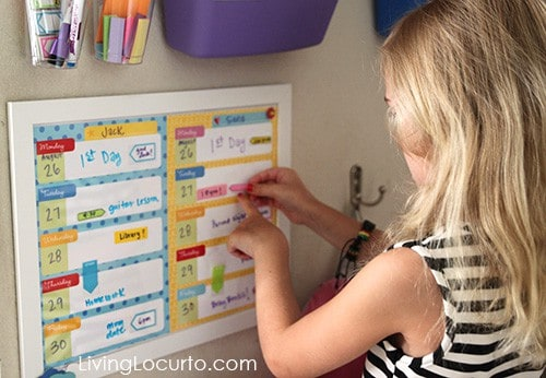 After School Station with Free Printable Weekly Calendars by LivingLocurto.com