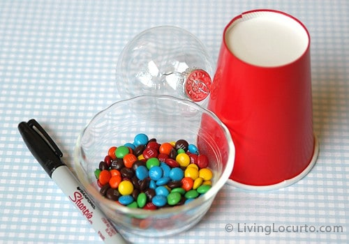 DIY Candy Gumball Machine Party Favors at LivingLocurto.com