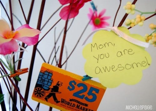 Mother's Day Gift Tree from The Michelle Paige Blog