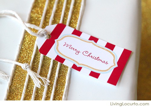 Christmas Free Printable Gift Tags by  Living Locurto