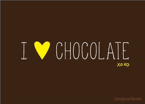 I LOVE Chocolate Quote
