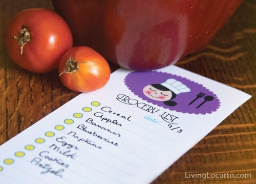 Free Printable Grocery Shopping Lists | Living Locurto