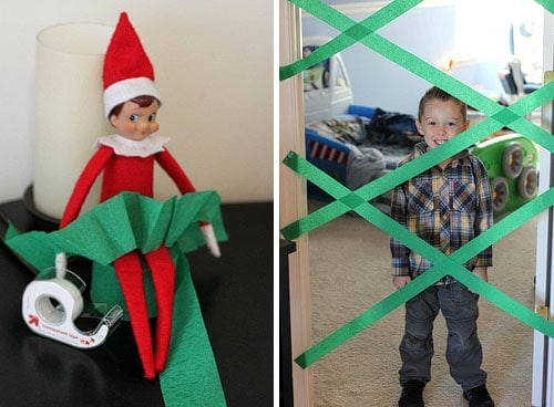 25 of the BEST Elf On The Shelf Ideas! Fun for Christmas. Elf on the Shelf playing pranks on kids. LivingLocurto.com