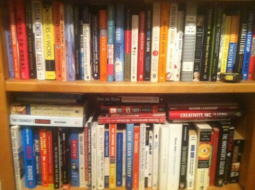 Read 100 books and you'll fill a bookshelf.