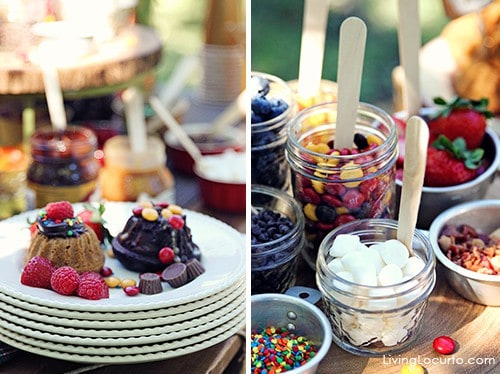 A Beautiful Mini Bundt Cake Bar Party. These simple party ideas and free party printables will impress your guests!  See more at LivingLocurto.com