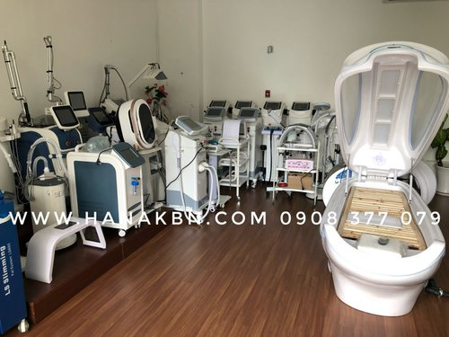 Hình ảnh thiét bị spa chính hãng tại công ty HanaKBN