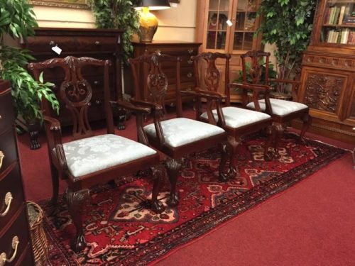 value of baker chippendale chairs