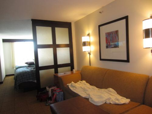 A single queen room at the hyatt place, riverhead