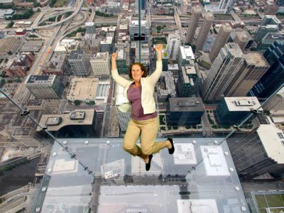 The viewing platforms at skydeck chicago are intense