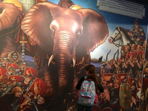 A mural of roman conquest of londinium