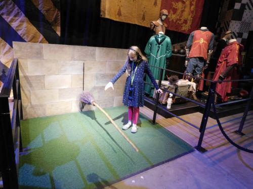 Raising a broom on the harry potter studio tour