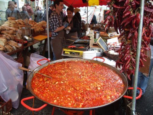 The portobello road market has street food from all over the world